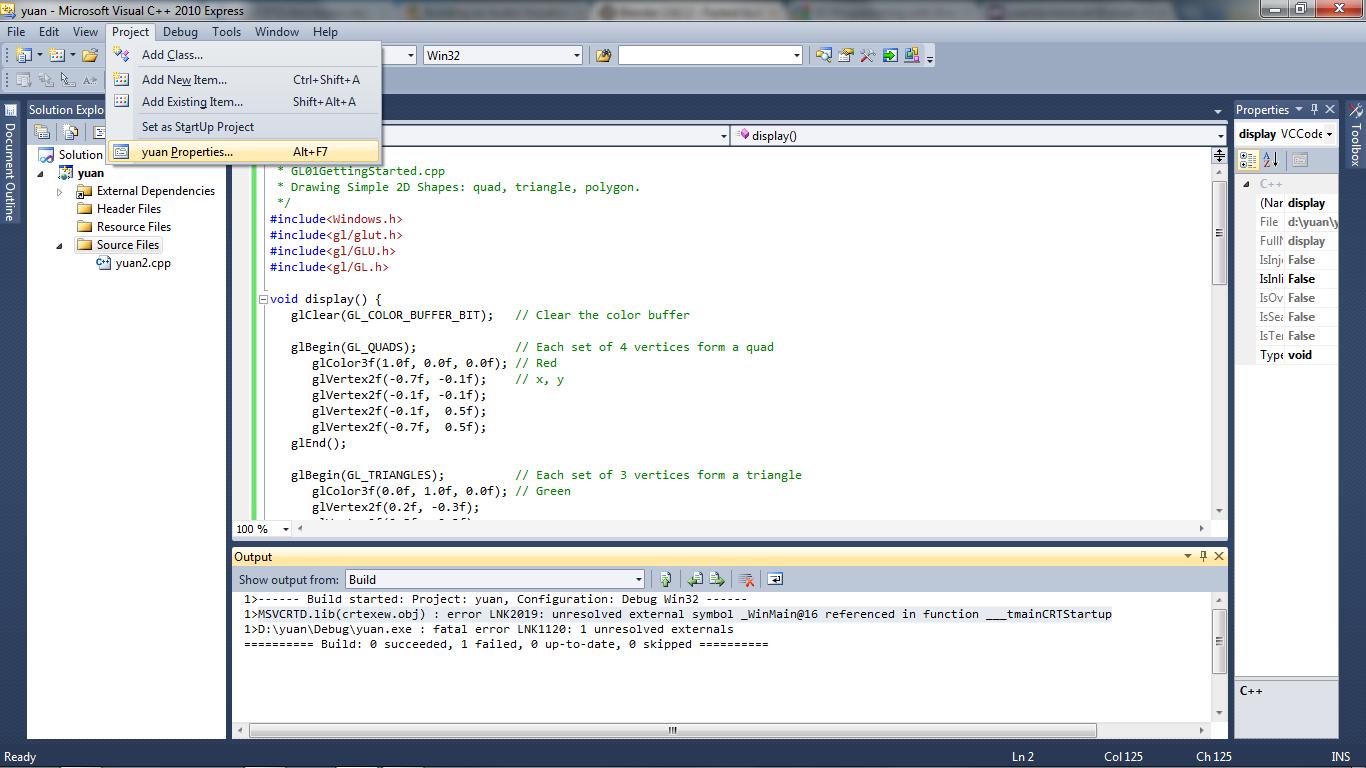 msvcrtd.lib(crtexe.obj) : error LNK2019 in Microsoft ...